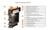 Твердотопливный котел длительного горения DTM Turbo 10 кВт 5