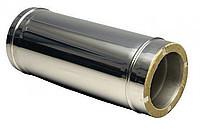 Труба для дымохода с теплоизоляцией нерж\оц Версия Люкс L-0.5 м толщина 0.6 мм D 100-300 мм