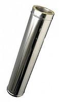 Труба-удлинитель с теплоизоляцией нерж/оц Версия Люкс L-0.5-1 м толщина 0.8 мм D 100-300 мм