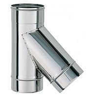 Тройник 45 нерж Версия Люкс толщина 0.8 мм D 100-300 мм