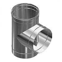 Тройник 90 нерж Версия Люкс толщина 1 мм D 100-300 мм