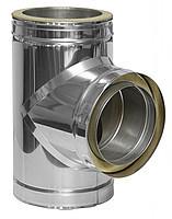 Тройник 90 с теплоизоляцией нерж/нерж Версия Люкс толщина1 мм D 100-300 мм