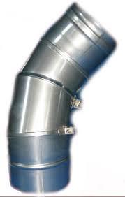 Колено 90 поворотное Версия Люкс толщина 0.6 мм D 100-300 мм
