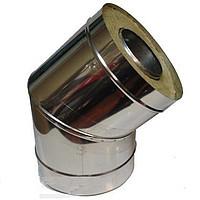 Колено 45 с теплоизоляцией нерж\оц Версия Люкс толщина 1 мм D 100-300 мм