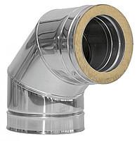 Колено 90 с теплоизоляцией нерж\нерж Версия Люкс толщина 0.8 мм D 100-300 мм