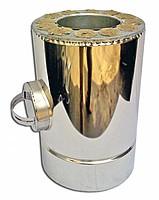 Ревизия с теплоизоляцией нерж/оц Версия Люкс толщина 1 мм D 100-300 мм