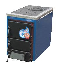 Твердотопливный котел с варочной плитой Корди АКТВ - 16 , 16 кВт.