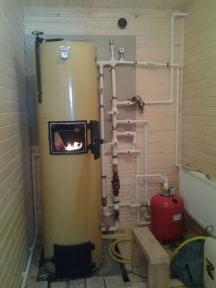 Твердотопливный котел длительного горения на дровах Stropuva 40 кВт - Украина