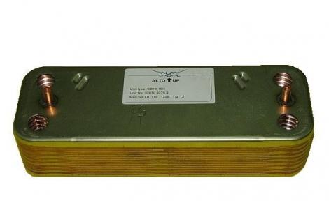 Теплообменник Ariston MICROGENUS 30kw вторичный (ГВС) 16 пластин код: 998483