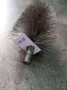 Стальная щётка для удаления сажи в твердотопливном котле ∅ 80 мм