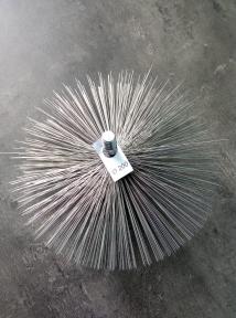Стальная щётка для удаления сажи в твердотопливном котле ∅ 150 мм