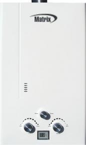 Газовый проточный водонагреватель Matrix JSD 20-18 белая - 10 л\мин