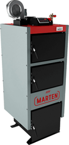 Твердотопливный котел длительного горения Marten Comfort MC 24 кВт - сталь 5 мм