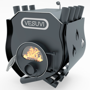 Булерьян «VESUVI» с варочной поверхностью+стекло+кожух «00», 6кВт-125 м3